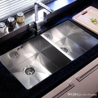 Wholesale Kitchen stainless steel sink SETS With Kitchen Sink Faucet Drainer basket Soap dispenser