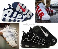 Wholesale 2016 AIR More Uptempo Scottie Pippen Basketball Shoes For Women Men Red Black High Quality Sneakers Athletic Sport Shoes Eur