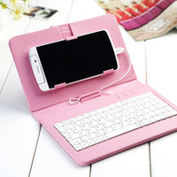 Wholesale Phone Keyboards Leather Cases iPad Keyboard Cases with Stand Holder OTG Stylish iPad Protective Cover Keyboard for iPad Samsung HTC LG
