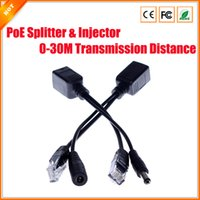 Wholesale 2Pairs PoE Passive Cable Splitter Power Over Ethernet For PoE IP Camera PoE Splitter amp Injector Cable Kit PoE Adapter