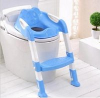 Wholesale Fashion Potty Seat With Ladder Children Kids Baby Toilet Folding infant potty chair Training Portable Toilet Seat Cover T7010