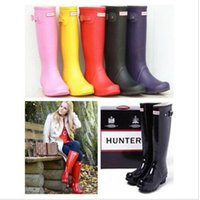 Wholesale 2016 New Arrival hunter boots Waterproof boots hunter wellies over knee boots rain boots hunter Muti color rain boots for women