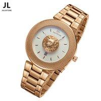 Wholesale Luxury Brand Women Mens Watches Lion Head Wristwatches Casual Waterproof Lovers Watch Business Steel Band Quartz Watch relogio masculino