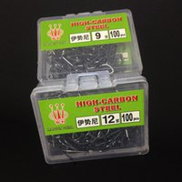 Wholesale 100pcs box NO High Carbon Steel Ise Barbed Hooks Fishing Hook Pesca Fishing Tackle Carp Fishing Accessories