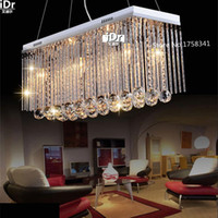 Wholesale Rectangle High end European styl Crystal Pendant Light Fitting Crystal chandelier ceiling suspension lamp for dining roombedroom