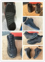 Wholesale 2016 Retro Basketball Shoes Retro XII Mens Basketball Shoes Cheap Retro Wool Grey Black Sneaker Double Box US8