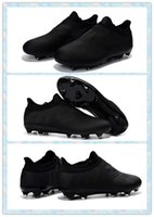 Wholesale 2016 Men Cheaper Training Sneakers Men s Messi Pureagility FG AG Black Soccer boots Shoes Football Boots Running Shoes