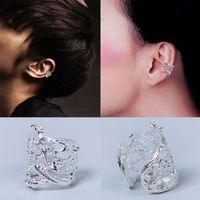 Wholesale 10pcs New Fashion Punk Women Men Silver Tone Hollow Out Leaf Cuff Ear Clip Wrap