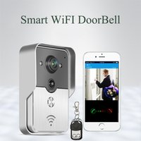 Wholesale Smart Wifi Video Doorbell With Remote controller Wireless Intercom Support G G IOS Android for iPad SmartPhone Tablet Control