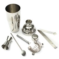 bar mixer - New Food Grade set ml Stainless Steel Cocktail Shaker Jigger Mixer Bar Drink set for Barware Bar Party Portable