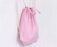 backpack crafts - Eco Canvas drawstring backpack blank plain organizer Rucksack Travel sports phone Bags handbag for men women kids DIY Gift crafts bags