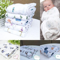 Wholesale 2016 Soft Muslin Cotton Blanket Newborn Baby Blanket Swaddle Bath Towel CM