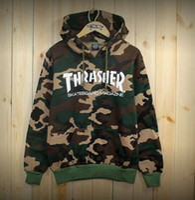 Wholesale Hip hop men fashion sportswear diamond sweatshirts hooded mens element skateboard graphic pullover hoodies men thrasher hoodie