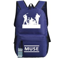 alternative rock women - Navy Muse backpack Alternative rock Matthew Bellamy school bag Classic Pop music band day pack Hot sale daypack