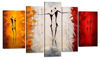 Cheap Dance With Me -Modern Canvas Art Wall Decor Abstract Paintings Abstract Paintings on Canvas Stretched and Framed Ready to Hang