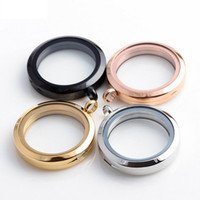 Cheap Top Grade 30mm 316 Stainless Steel Floating Locket DIY Transparent Glass Frames Floatings Charms Lockets Pendants Jewelry Wholesale 0032KLF