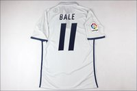 Wholesale 2017 Thai Quality jersey ronaldo bale benzema player version soccer jersey shirt white player version jersey with liga patch