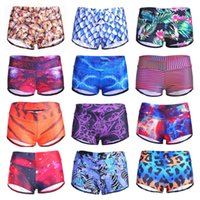 Wholesale Hipsterme Shorts Sexy Yoga Sport Running Fitness Shorts Women Sexy Galaxy Scales Cute Cat Leopard Digtal Print Elasticity Shorts