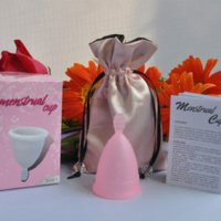 Wholesale sexy lovely light high quality silicone Menstrual Cup women cup cup holder cups service