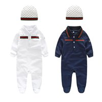 Wholesale baby clothing set Cotton newborn baby Romper for boy girl body suits Long sleeve baby romper jumpsuits set hat kids clothes