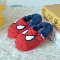 baby girl house slippers - 2016 New Arrival Cartoon Spiderman House Slippers For Kids Child Baby Winter Spring Autumn Boys Girls Funny slippers Shoes GY