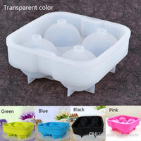 Wholesale Round Bar Silicon Whiskey Ice Cube Ball Maker Mold Sphere Mould Party Tray E00138 SPDH