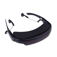 Wholesale TOP Quality GB quot Virtual Wide Screen Video Glasses Eyewear Mobile Private Theater with AV Input Card Slot
