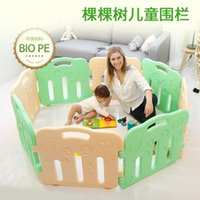 Wholesale 2016 High Quality Baby Game Playpen Solid Color Strong Game Fence No Smell Baby Toy Fences