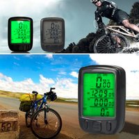 Wholesale pc Bicycle Wired LCD PC Odometer Speedometer Waterproof Green Backlight Newest new arrival
