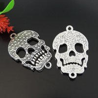 antique gold jewellry - 10pcs Antique Silver Skull Pendant Charm Jewellry Finding mm jewelry making