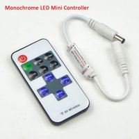 Wholesale 1set Single Color Remote Control Dimmer DC V keys Mini Wireless RF LED Controller for led Strip light SMD