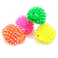 Wholesale Cute Squeaker Ball Toys Hedgehog Puppy Shape Pet Dog Squeaky Chew Toy Supplies