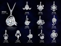 Pendant Necklaces twelve south - New sterling silver necklace pendant twelve constellations pendants zodiac pendant excluding chain High quality