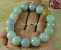 Cheap Green Lavender Bead Jade Bangle Bracelet Natural Grade A Jadeite Emerald