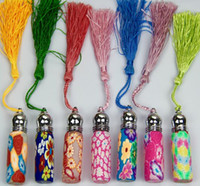 Wholesale Factory Price ML Copper head bead polymer clay perfume bottles Empty Roller ball bottle Car Pendant