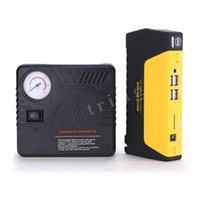 battery powered air compressor - High Quality Multi Function Car Jump Starter Gasoline Diesel version Car Battery Charger USB Out put Mobile Power Bank With Air Compressor