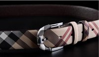 Wholesale NEW HOT leather Belts Grid Pin Buckle Cowhide belts for men Genuine leather Men s belts underquote Famous Brand Good quality good price