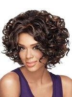 Wholesale 2016 Fashion European Woman Short Wave Hair Pure Color Short Wig Gold Light Brown Dark Brown