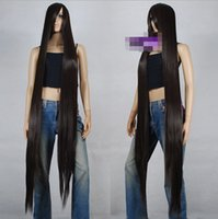 Wholesale gt cm Brown Heat Styleable Extra Long Cosplay Wigs