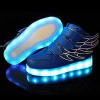 airs usb animals - 2016 Led Glow Fashion USB Charging Basket Led Children Shoes With Light Up Kids Casual Boys Girls Luminous Sneakers Angel Shoe Enfant