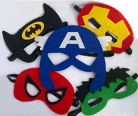 adult themed parties - Superhero felt mask Cosplay Captain America Superman Batman Spiderman Hulk Princess children adult themed Party Costume Masks custom styles