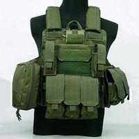 armor carrier - Molle CIRAS Tactical Vest Airsoft Paintball Combat Vest W Magazine Pouch Utility Bag Releasable Armor Carrier Vest