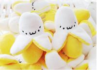 banana chain - The Key Chain With cm Funny Banana Half naked White In Yellow Plush Pendant