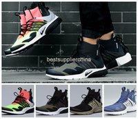 Wholesale 2016 New Famous Acronym Air Presto MID White Black Hot Lava Mens Running Shoes Deep purple White Trainers Sneakers Size