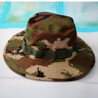 Wholesale Brim Hat Men Big Nepal Cotton Sunshade Fisherman Hat Camouflage Casual Male Hats Basin Caps