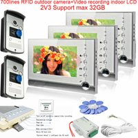 apartment definition - 2v3 High Definition Camera Multi Apartment Video Door Phone Intercom System Video Recording RFID cards unlocking Max GB