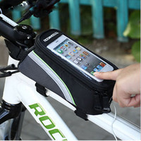 Wholesale 5 Inch Bike Handlebar Bag Phone Holder with Headphone Jack for iPhone Plus S S for Samsung Galaxy S6 S7