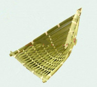Wholesale Bamboo Products Woven Crafts Manual Cooking Hotel Restaurant kitchen Supplies Dishes Decoration Plate Of Fruit