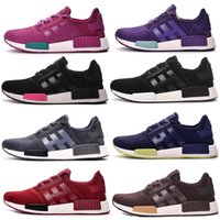 baseball r - The new NMD running shoes NNM_R1 monochromatic R grid Primeknit triple NMD R1 women men s running shoes white black shoes sneakers
