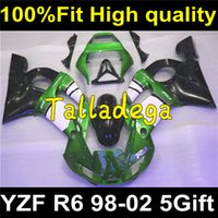 Cheap Plastic Body Fairing Set For YAMAHA YZF R6 1998 1999 2000 2001 2002 98 99 00 01 02 Body Fairing Kit Y-125